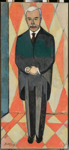 Christian Cornelius (Xan) Krohn (1882-1959, Norvège) Portrait de Sergueï Chtchoukine, 1916 ©ADAGP, Paris 2016 Photo ©Saint-Pétersbourg, Musée d'État de l'Ermitage, 2016