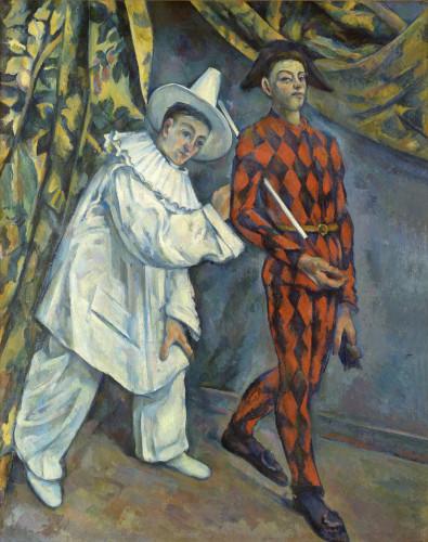 Paul Cézanne, Mardi gras (Pierrot et Arlequin), 1888-1890 ©Moscou, Musée d'État des Beaux-Arts Pouchkine