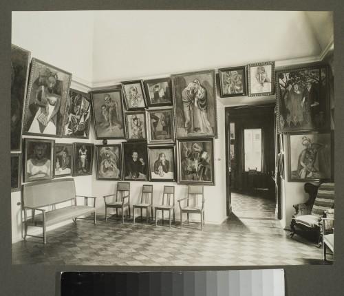 Le salon Picasso au Palais Troubetskoï, 1914 ©Moscou, Musée d'Etat des Beaux-Arts Pouchkine. Photo ©Albom photorpher Pavel Orlov, Beginning 1914