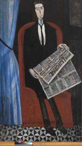 André Derain (1880-1954, France) L'Homme au journal (Chevalier X), 1911-1914 ©ADAGP, Paris 2016 Photo ©Saint-Pétersbourg, Musée d'État de l'Ermitage, 2016