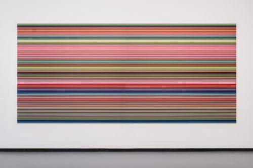Gerhard Richter. STRIP (921-2). 2011. Digital print on paper mounted between aluminium and perspex. 200 x 440 cm. © Gerhard Richter © Fondation Louis Vuitton / Martin Argyroglo