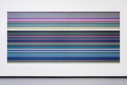 Gerhard Richter. STRIP (920-1). 2011. Digital print on paper mounted between aluminium and perspex. 200 x 440 cm. © Gerhard Richter © Fondation Louis Vuitton / Martin Argyroglo