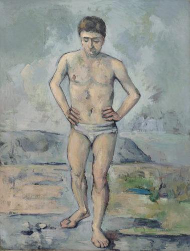 Paul Cézanne. Le Baigneur. Vers 1885 Huile sur toile, 127 × 96,8 cm. The Museum of Modern Art, New York. Collection Lillie P. Bliss, 1934