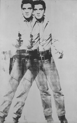 Andy Warhol, Double Elvis. 1963. Encre sérigraphique et peinture acrylique sur toile, 210,8 × 134,6 cm. The Museum of Modern Art, New York. Don de la Jerry and Emily Spiegel Family Foundation en hommage à Kirk Varnedoe, 2001. © The Andy Warhol Foundation for the Visual Arts, Inc. / Agadp, Paris 2017