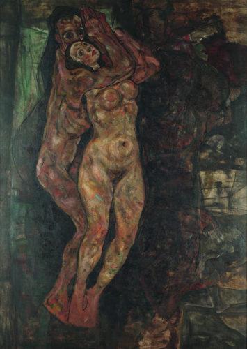 Egon Schiele. Couple d'amants, 1918 (inachevée). Huile sur toile. 155 x 210 cm. Collection particulière, Leopold. Photo : Courtesy of Private collection, Leopold