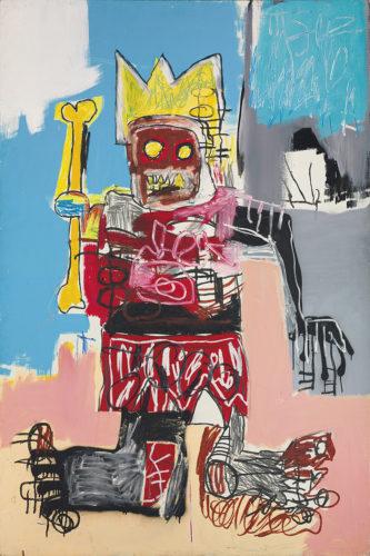 Jean-Michel Basquiat. Untitled, 1982. Acrylique, crayon gras et peinture aérosol sur bois. 182,8 x 121,9 cm. Collection particulière © Estate of Jean-Michel Basquiat. Licensed by Artestar, New York.
