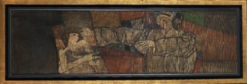 Egon Schiele. Autoportrait avec modèle (fragment), 1913. Huile sur toile. 70,5 x 241,2 cm. Ömer Koç © Hadiye Cangókçe