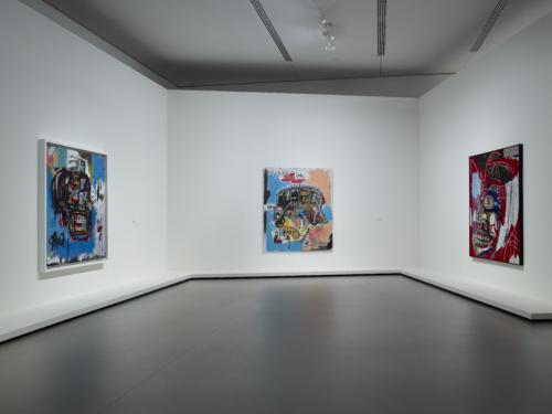 "Installation view of the ""Jean-Michel Basquiat"" exhibition, gallery 2 (level -1), Fondation Louis Vuitton, Paris."