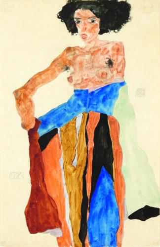 Egon Schiele. Moa, 1911. Gouache, watercolor, and pencil on paper. 48 x 31 cm. Private collection, London Picture: © Mathias Kessler, 2017