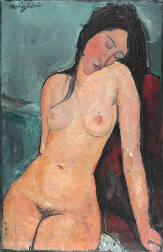 Amedeo Modigliani. Female Nude, vers 1916. © The Samuel Courtauld Trust, The Courtauld Gallery, London