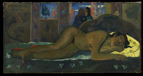 Paul Gauguin. Nevermore, 1897. © The Samuel Courtauld Trust, The Courtauld Gallery, London