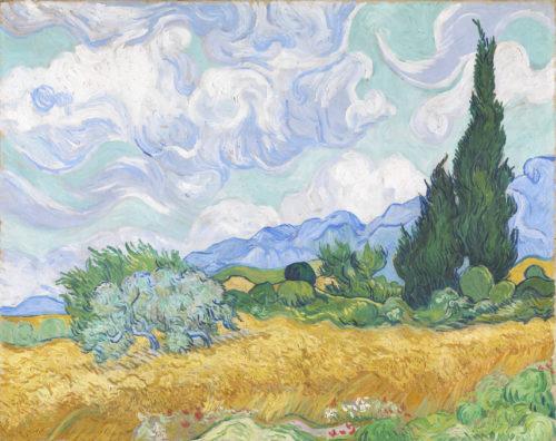 Vincent van Gogh. Champ de blé avec des cyprès, 1889. © Acquis grâce au Courtauld Fund, 1923 The National Gallery, London Photo : © The National Gallery, London