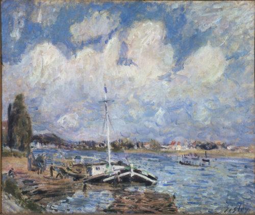 Alfred Sisley. Bateaux sur la Seine, 1875-1879. © The Courtauld Gallery, London (Samuel Courtauld Trust)