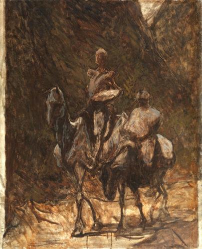 Honoré Daumier. Don Quichotte et Sancho Panza, vers 1870. © The Courtauld Gallery, London (Samuel Courtauld Trust)