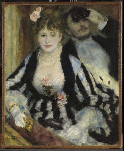 Pierre-Auguste. Renoir La Loge, 1874. © The Courtauld Gallery, London (Samuel Courtauld Trust)