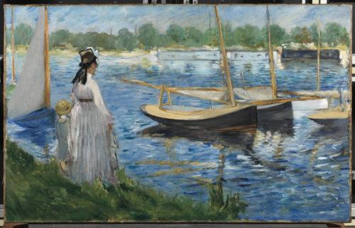 Édouard Manet. Bords de Seine à Argenteuil, 1874. © Collection particulière, en dépot à la Courtauld Gallery, Londres