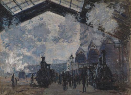 Claude Monet. La Gare Saint-Lazare, 1877. © The National Gallery, London, Achat 1982 Photo: © The National Gallery, London