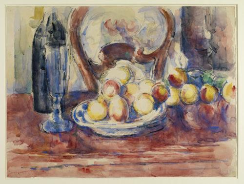 Paul Cézanne. Pommes, bouteille, dossier de chaise, vers 1904-1906. © The Courtauld Gallery, London (Samuel Courtauld Trust)