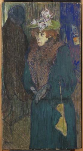 Henri de Toulouse-Lautrec. Jane Avril à l'entrée du Moulin Rouge, vers 1982. © The Courtauld Gallery, London (Samuel Courtauld Trust)