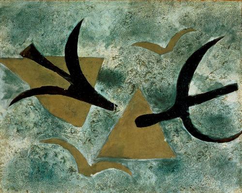 Georges Braque. Les oiseaux, 1954-1962. Belfort, Musée d'art moderne-Donation Maurice Jardot © Adagp, Paris, 2019 © Musée d'art moderne, Donation Maurice Jardot, Belfort Courtesy of Donation Maurice Jardot, Belfort