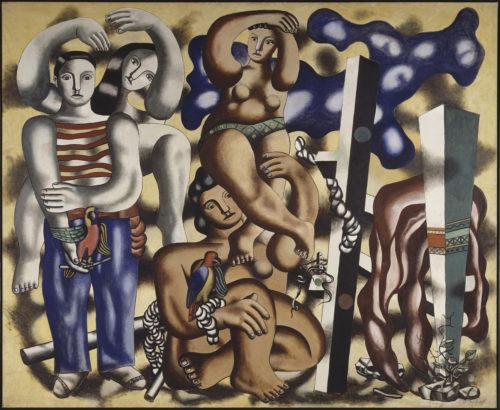 Fernand Léger. Composition aux deux perroquets, 1935-1939. Paris, Centre Pompidou – Musée national d'art moderne – Centre de création industrielle © Adagp, Paris, 2019 © Centre Pompidou, MNAM-CCI, Dist. RMN-Grand Palais / Jacques Faujour