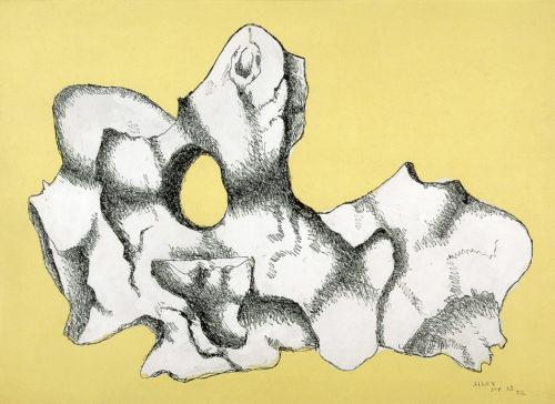 Fernand Léger. Silex blanc sur fond jaune, 1932. Belfort, Musée d'art moderne – Donation Maurice Jardot © Adagp, Paris, 2019 © Musée d'art moderne, Donation Maurice Jardot, Belfort