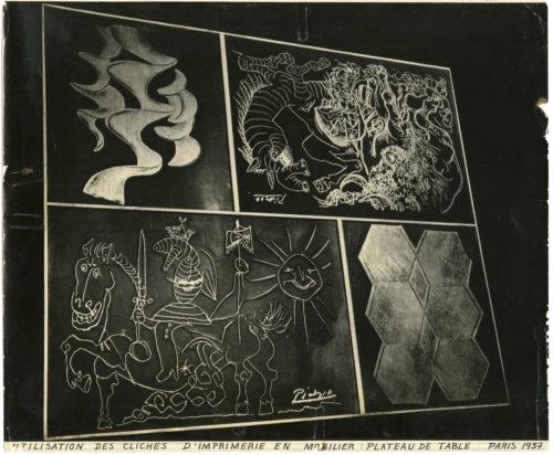 Charlotte Perriand, Manifesto table for Jean-Richard Bloch, 1937, © Adagp, Paris, 2019 © Charlotte Perriand/AChP © Succession Picasso 2019
